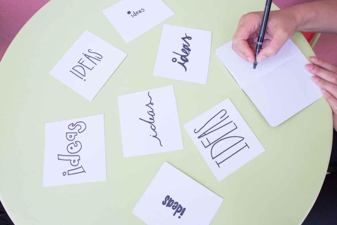 blur brainstorming business close up