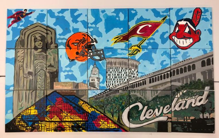 Cleveland Mural 3x5 ft