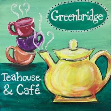 "Greenbridge Teahouse Cafe in Twinsburg, Acrylic 16x20"" 2017"