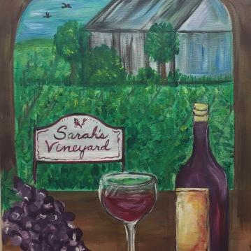 Sarah's Vineyard in Cuyahoga Falls, Acrylic 16x20 2017