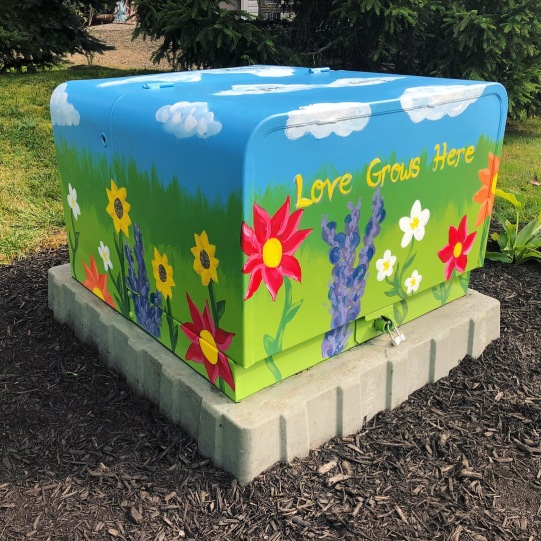 Twinsburg Electrical Box Painting 4 ft x 3 ft 2018