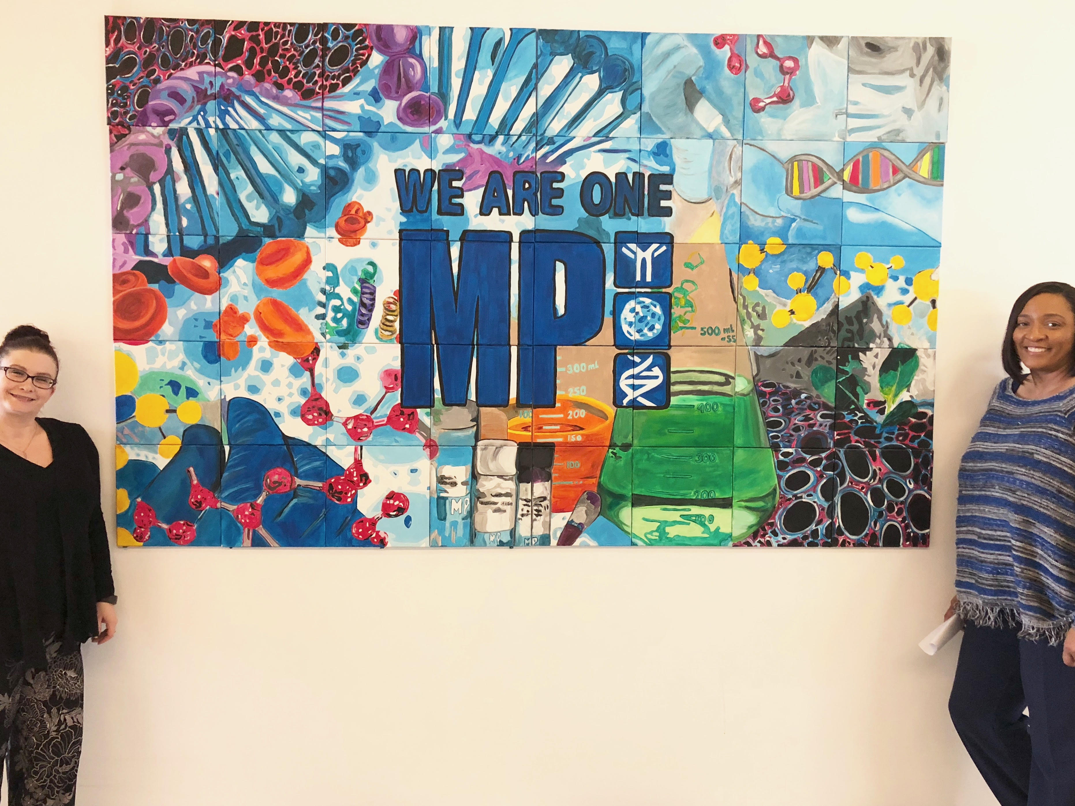MP Biomedicals Company Mural 5 x 8 ft